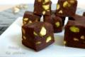 Fudge con pistacchi, cioccolatini