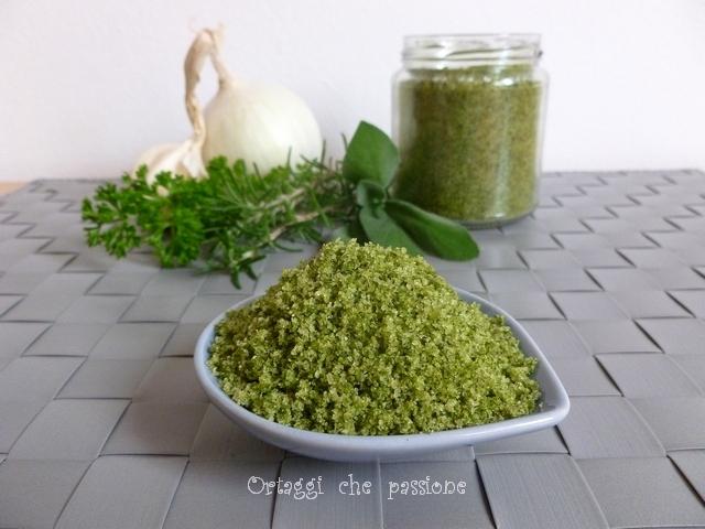 Sale verde aromatizzato