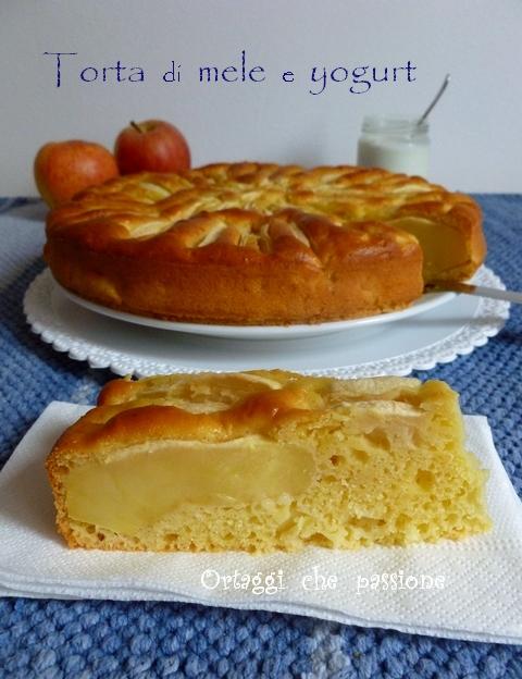 Torta di mele e yogurt, ricetta light Ortaggi che passione by Sara