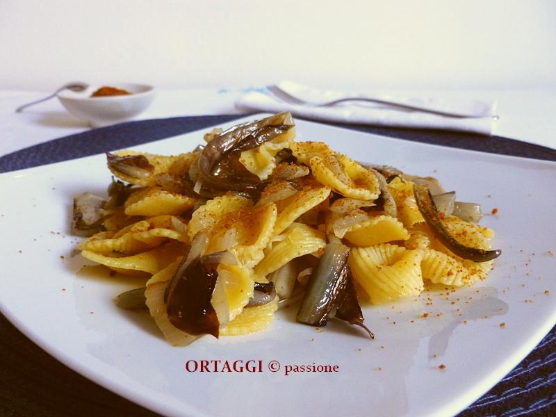 pasta con radicchio rosso e bottarga ORTAGGI © passione - Sara Grissino