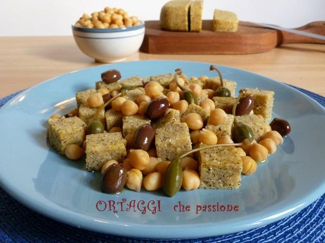 Insalata fredda di polenta e ceci Ortaggi che passione by Sara
