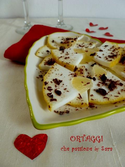 Insalata dolce di cedro e cioccolato San Valentino Ortaggi che passione by Sara