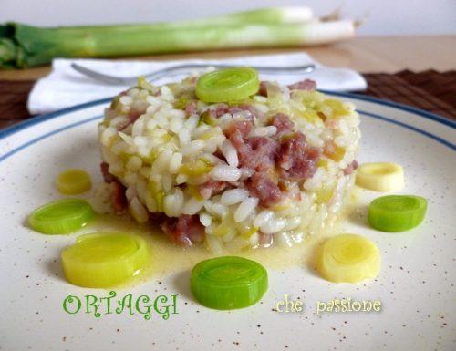 Risotto porri e salsiccia, ricetta