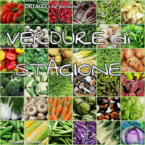 verdure di stagione - mese - carrello della spesa ORTAGGI che passione by Sara Grissino