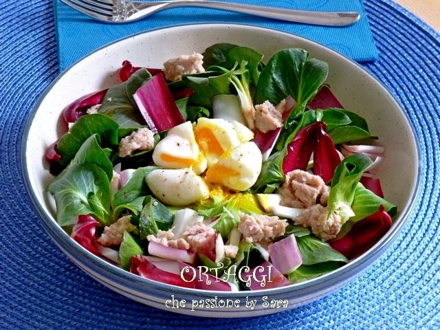 Insalata di radicchietto, uova e tonno Ortaggi by Sara