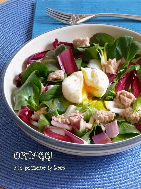 Insalata di radicchietto, uova e tonno Ortaggi che passione by Sara