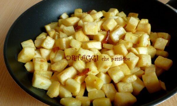Sedano rapa in padella – 2 ricette