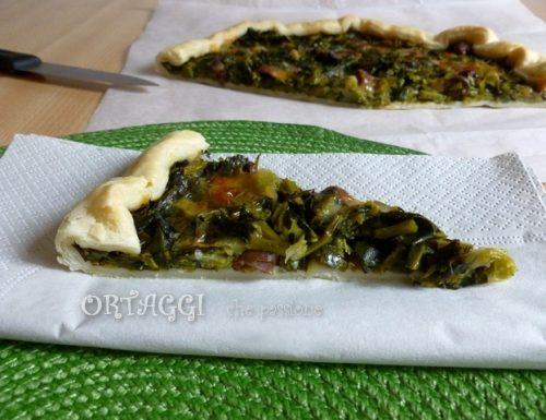 Torta salata con broccolo fiolaro, ricetta veloce