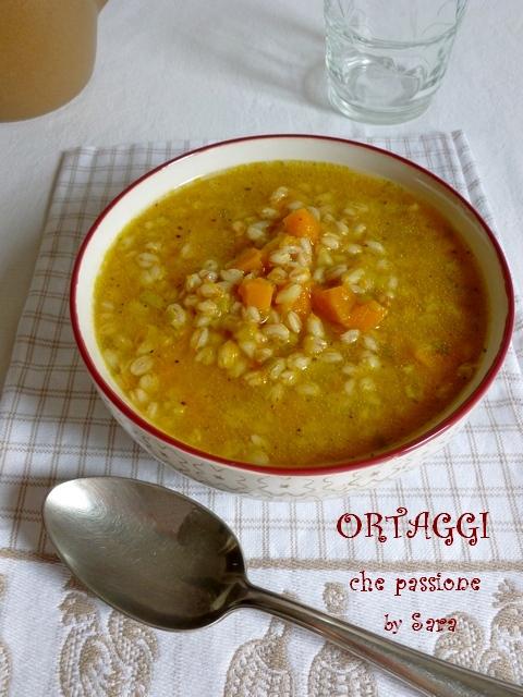 Zuppa di farro e zucca Ortaggi by Sara