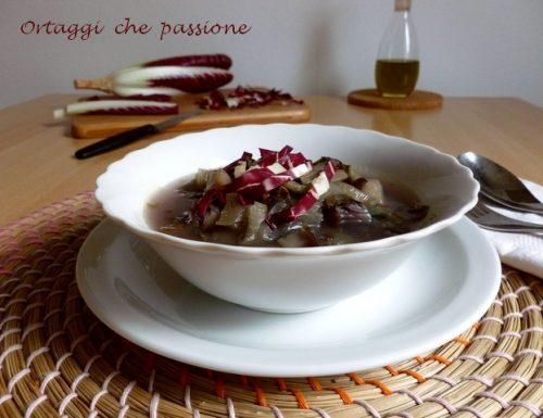 Zuppa di radicchio e patate