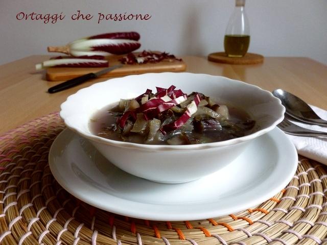 Zuppa di radicchio e patate Ortaggi che passione by Sara