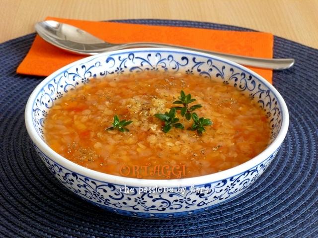 Zuppa di lenticchie rosse Ortaggi che passione Sara