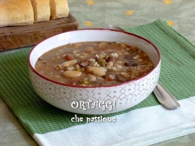 Zuppa di orzo e legumi Ortaggi che passione Sara