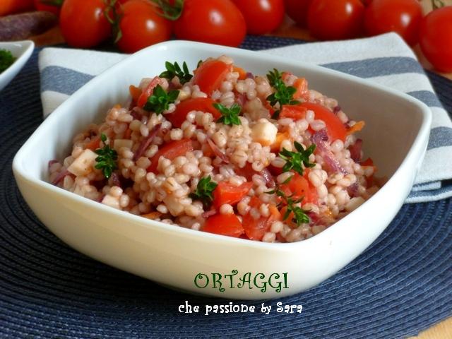 Insalata fredda di orzo pomodori e carote Ortaggi che passione by Sara