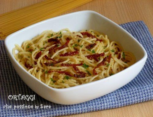 Spaghetti aglio olio peperoncino e…