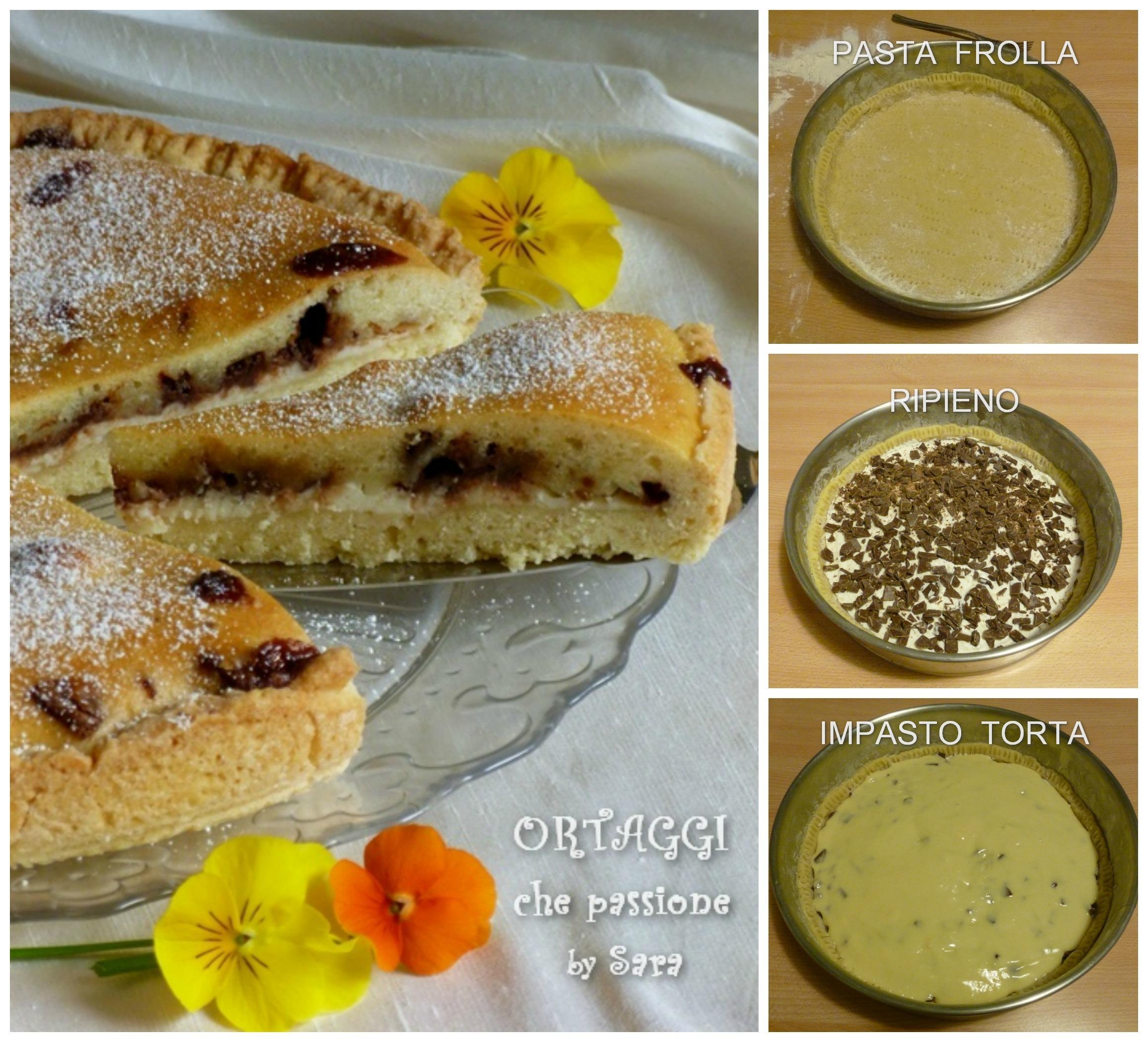 Crostata 2 impasti con ricotta e cioccolato Ortaggi  che passione by Sara