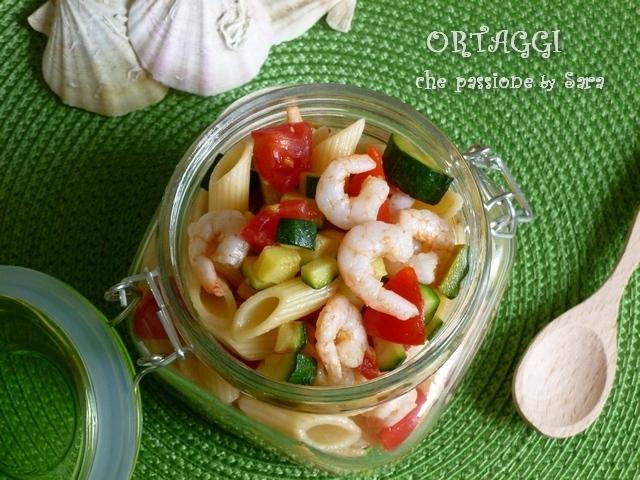 Pasta fredda gamberetti pomodori zucchine Ortaggi che passione by Sara