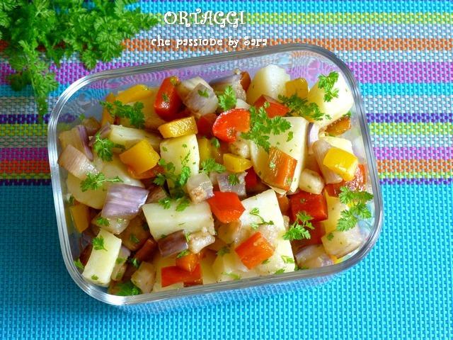 Patate con verdure contorno estivo ortaggi che passione for Decorazioni con verdure e ortaggi