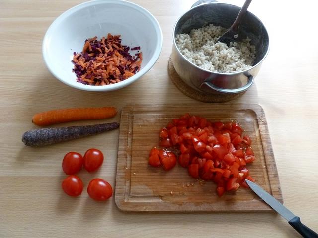 Insalata fredda di orzo pomodori carote Ortaggi che passione Sara