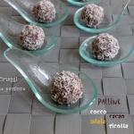 Palline cocco cacao ricotta e miele