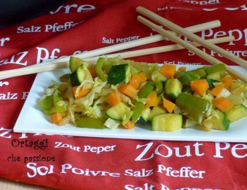 Verdure saltate con salsa di soia, ricetta