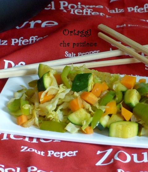 Verdure saltate con salsa di soia - Ortaggi che passione