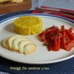 Riso giallo e peperoni