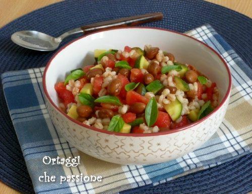 Orzo e fagioli con verdure estive