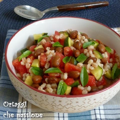 Orzo e fagioli con verdure estive Ortaggi che passione by Sara