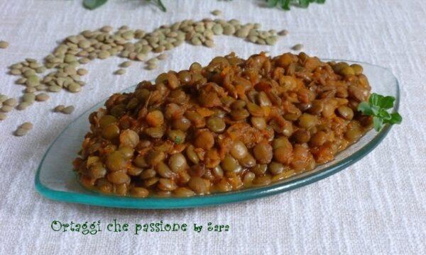 Lenticchie profumate, ricetta