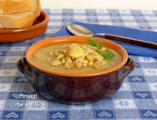 Zuppa con fave secche