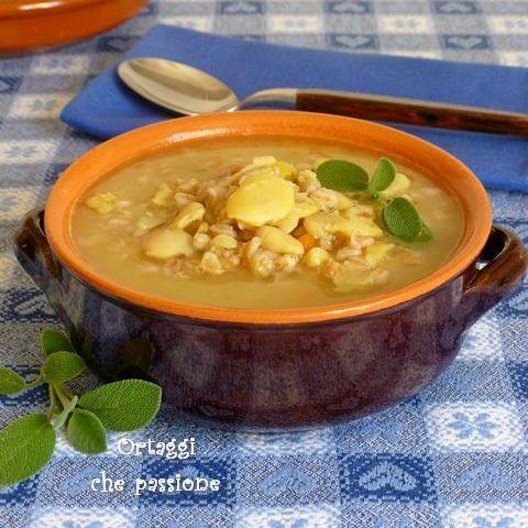Zuppa con fave secche Ortaggi che passione by Sara