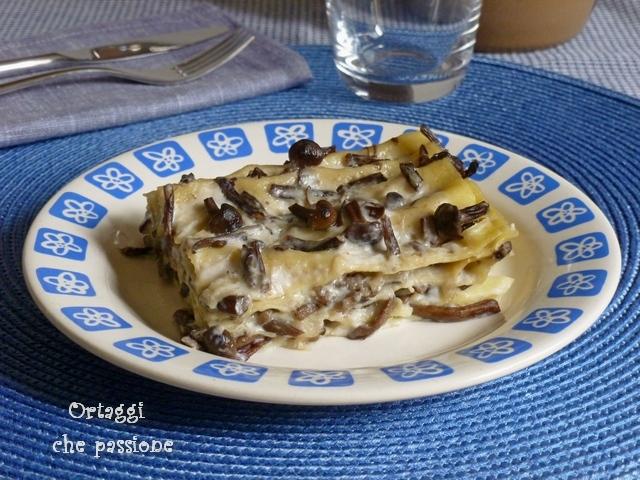 Lasagne con funghi chiodini Ortaggi che passione by Sara