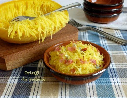 Spaghetti di zucca con gorgonzola