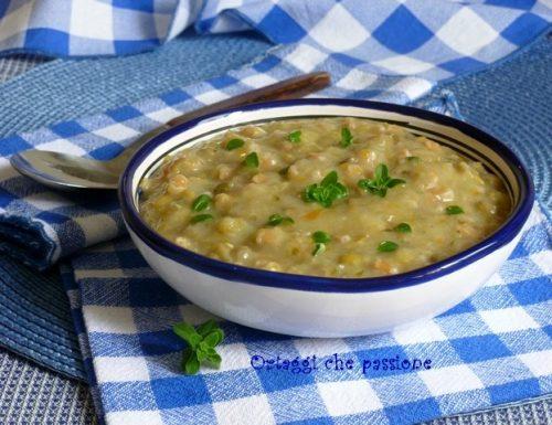 Crema di patate con lenticchie e farro