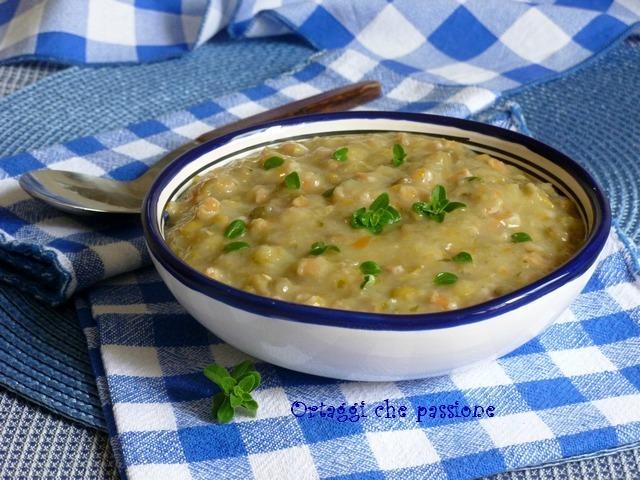 Crema di patate con lenticchie e farro Ortaggi che passione by Sara