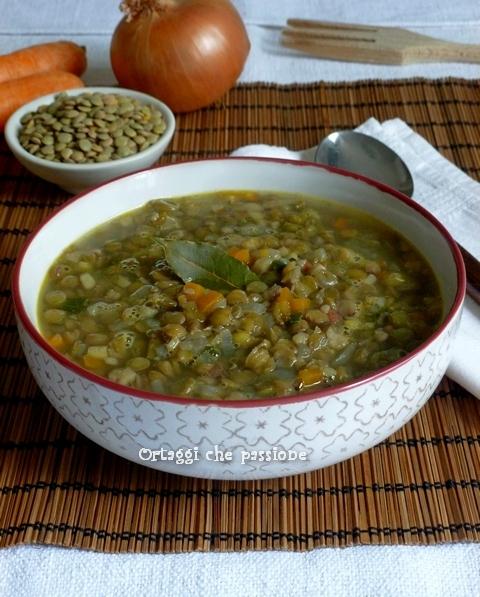 Zuppa saporita di lenticchie Ortaggi che passione by Sara