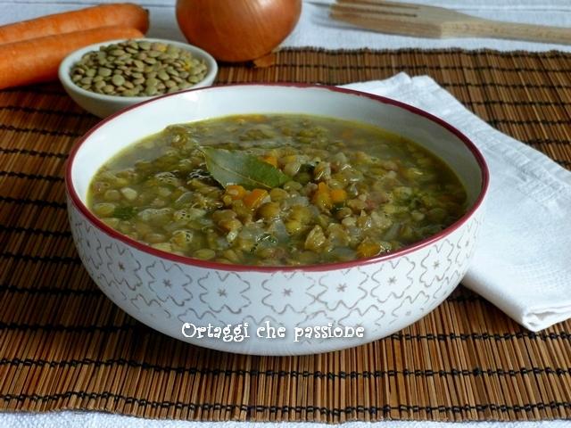 Zuppa saporita di lenticchie, ricette con lenticchie, Ortaggi che passione by Sara