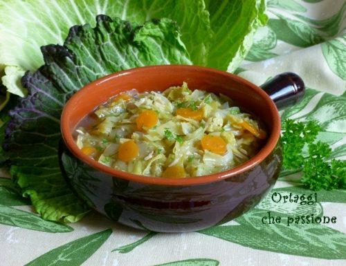 Zuppa tirolese di cavolo verza