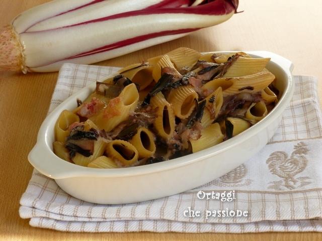 Pasta pasticciata con radicchio rosso Ortaggi che passione