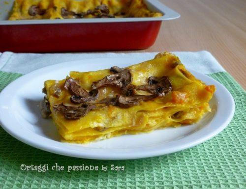 Lasagne champignon crescenza e zucca