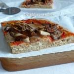 Pizza vegana semi integrale con radicchio