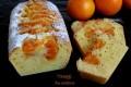 Plumcake alla panna con arancia in fette