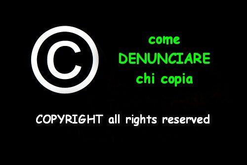 Come denunciare chi copia, denuncia online