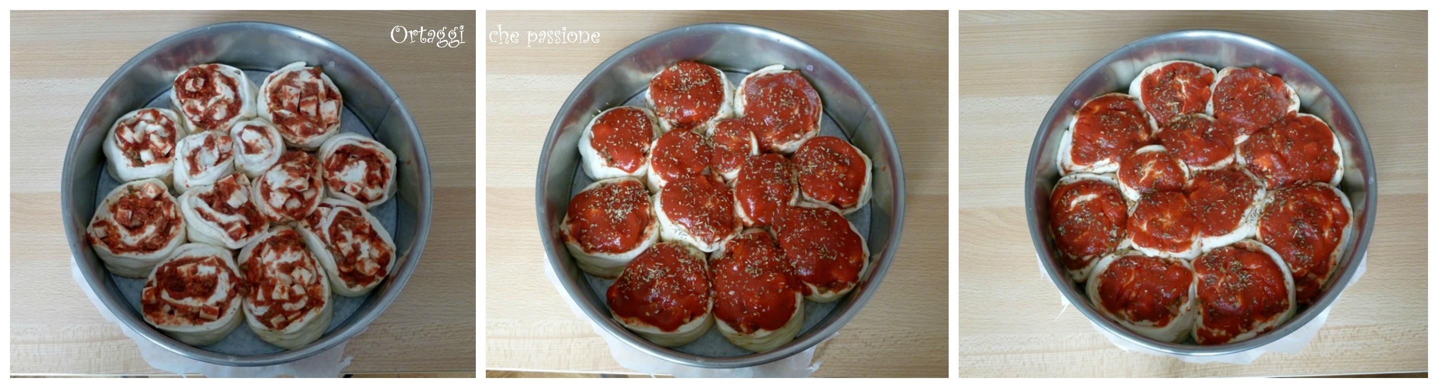 Torta di pizza di rose 3 Ortaggi che passione by Sara