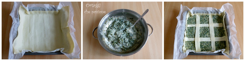 Torta salata quadrata con erbe spontanee 1 Ortaggi che passione by Sara
