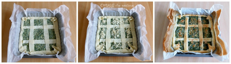 Torta salata quadrata con erbe spontanee 2 Ortaggi che passione by Sara