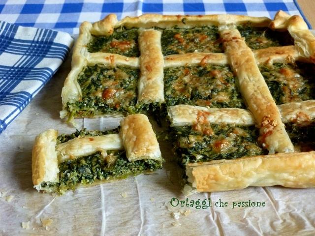 Torta salata quadrata con erbe spontanee Ortaggi che passione by Sara