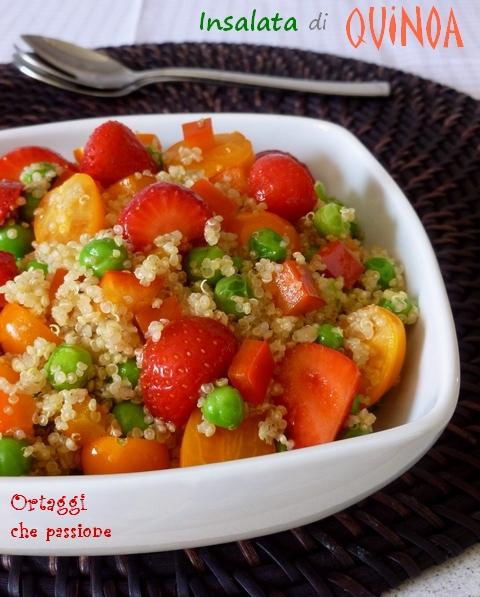 Insalata Quinoa con verdure e fragole - Ortaggi che passione Sara