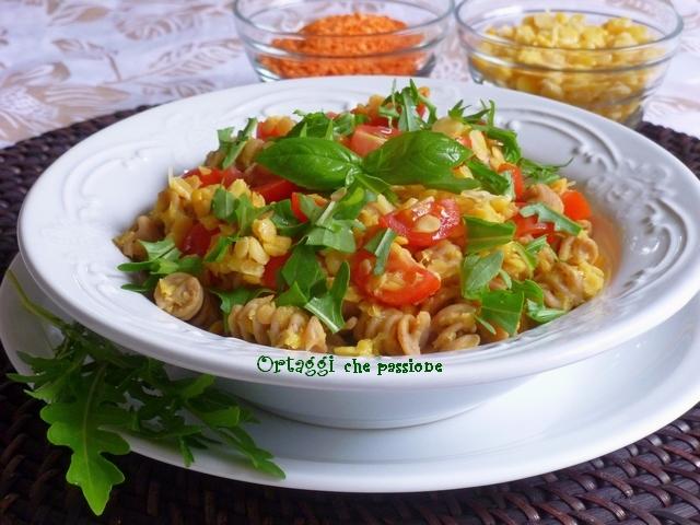 Ricetta insalata estiva con legumi secchi decorticati Ortaggi che passione by Sara